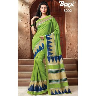 SUDARSHAN QUEEN RAW SILK SAREE-Green-MSC8002-VQ-Raw Silk