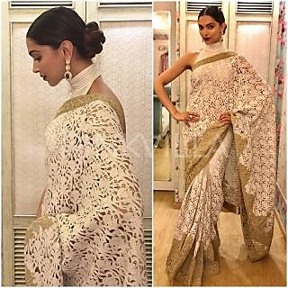Palash Fashion White Net Embroidered Saree With Blouse
