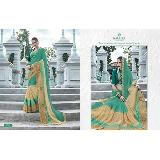 Green party wear sarees for women latest design