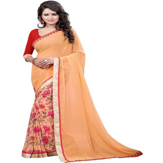 Genius Creation Bollywood Designer Georgette Printed Saree