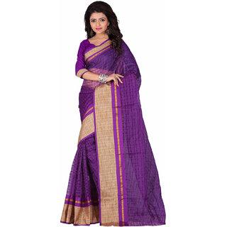 manju saree Yellow Plain Printed Cotton Normal Saree With Blouse