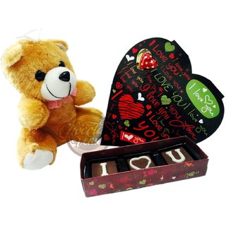 Love Special Combo (Heart Chocolate and Teddy)