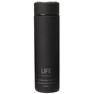 Home Story Double Wall Vacuum Insulated Stainless Steel LIFE Flask Thermos Travel Water Bottle Sipper 480 ml