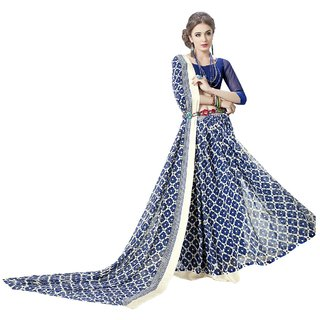 SUDARSHAN ELEGANCE DISIGN SAREE-Blue-MSC525BKINJAL-VQ-Cotton