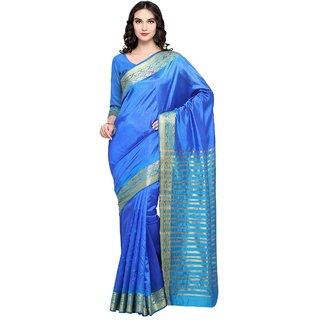 Triveni Scenic SkyBlue Colored Woven Banarasi Silk Casual Wear Saree TSRKA13491