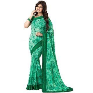 Vaikunth Multi Colour Georgette Printed Casual wear Saree with unstitched blouse