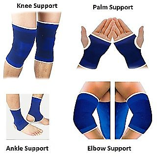 SNR Gym Combo of Knee Support Ankle Support Palm Support Elbow Support for sport man