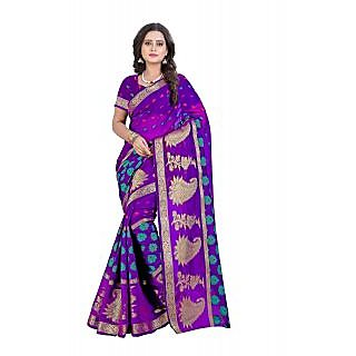 Bindani Studio Multicolor Cotton Printed Saree With Blouse