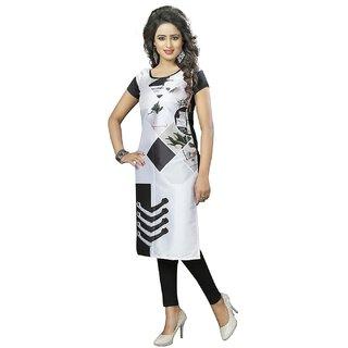 Subhash  Silver Plain Crepe Saree For Women