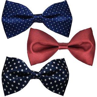 Sunshopping men's multi coloured neck bow tie (Pack of three)