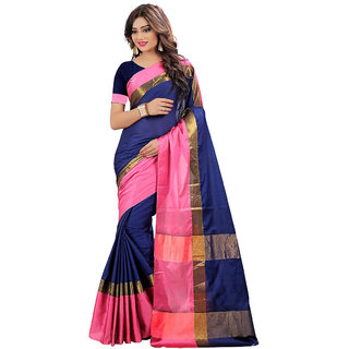 Alka Fashion Women's Clothing Saree Collection in Blue Color Cotton  Material For Women Party WearWeddingCasual