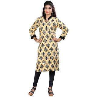 Subhash  Cream Plain Cotton Saree For Women