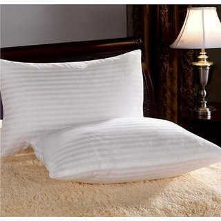 The Intellect Bazaar High quality Super Soft Satin striped Pillows (set of 2)