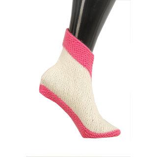 U.K size 8 Handmade woolen socks (women) KC Hand Knitted Socks (Shoe style)
