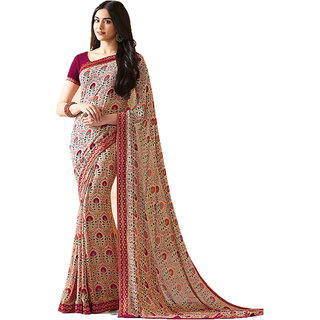 89ffe7e7a6 Buy Bollywood Design Pink Color Georgette Printed Saree Online - Get ...