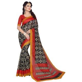 New Maruti Enterprise Black Bhagalpuri  Sarees For Womens