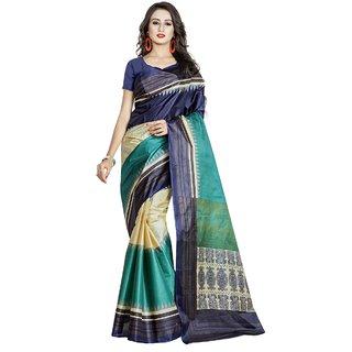 Triveni Multicolor Silk Printed Saree Without Blouse