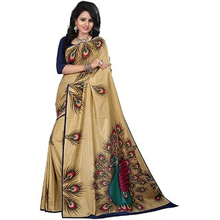 Meia Multicolor Silk Embellished Saree With Blouse