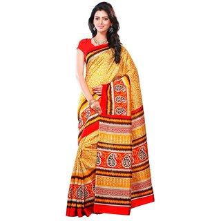 Biyu Multicolor Silk Printed Saree With Blouse