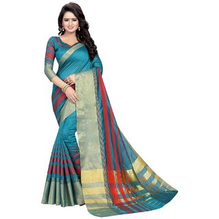 ANGEL QUEEN WOMEN'S NEW COLLCTION PARTY WEAR COTTON SILK SAREE
