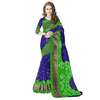 Mastani Multicolor Bhagalpuri Silk Printed Saree With Blouse