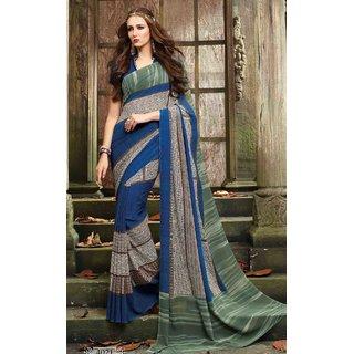 Sudarshan Silks Multicolor Cotton Self Design Saree With Blouse