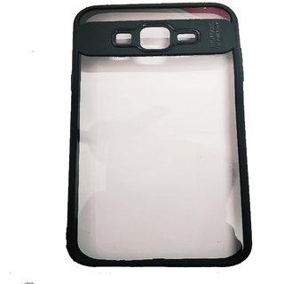 OGW SAMSUNG J7  - transparent  back case cover black