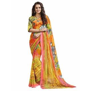 Triveni Multicolor Georgette Casual Wear Printed Saree