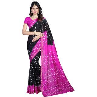 Svb Saree Multicolour Bandhani Tussar silk  bandhani saree