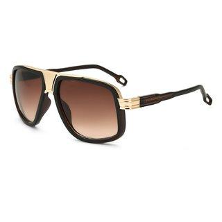 Royal Son Brown UV Protection Square Unisex Sunglasses