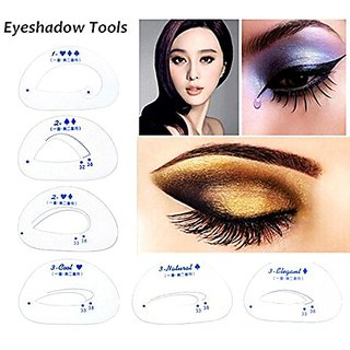 Outofbox Kelley 6 Pieces Eye Shadow Models Single And Double Eyelid Models Auxiliary Makeup Tools Eyebrow Stencil (Set Of 9)