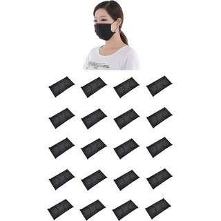 997d0ac959c Buy Outofbox Disposable Non Woven Black Face Mask Medical Dental Earloop  Anti-Dust Anti-Pollution Flu Surgical Masks Respirator (20 Pieces) Online -  Get 12% ...