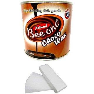 Beeone Chocolate Body Wax with 100 Wax Strips (600 g)