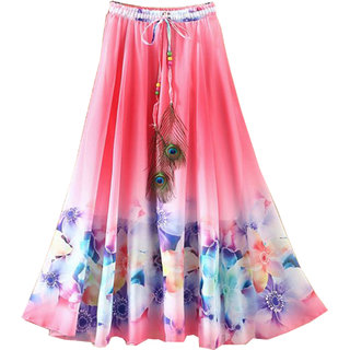 79ad16faa2a Buy FASHION CARE Crepe Multi Color digital printed Women s Wear Stiched  Skirt KCBC-11 Online - Get 81% Off