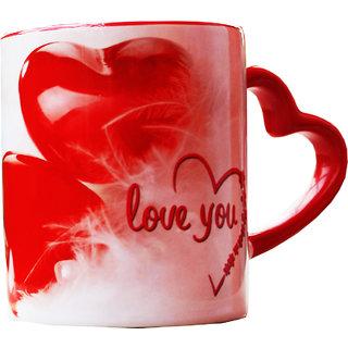 Couple Love You Heart Handle Mug Gifts For Boyfriend Girlfriend Friends Him Her Men Girl Birthday Anniversary Everyday Gift
