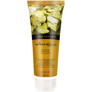 Bio care gold Face Scrub Enriched With Almond Olive And Carrot Seed Oil