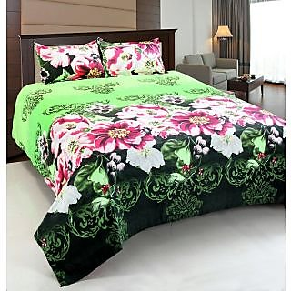 Designer 3D Double Bed With 2 Pillow Covers