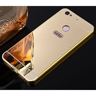 LeTV Le 1s Case Cover Luxury Metal Bumper +  Acrylic Mirror Back Cover Case For LeTV Le 1s - Gold