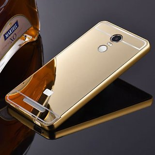 quality design 303e1 0ef12 Aluminum Metal Bumper with PC Mirror Back Cover For Redmi Note 3