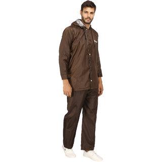 Fashion Village Brown Raincoat pack of 1