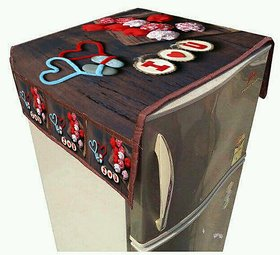 Digital Print Fridge Refrigerator Top Cover with Pockets By Manvi Creations