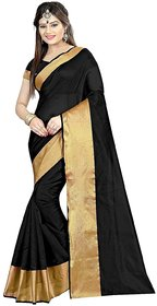 Cotton Silk Saree Black