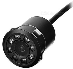 8 Led Hd Car Reverse Parking Camera 18.5 Mm 180 Degree Waterproof, Wide Angle, Guided Parking, IR Night Vision Camera