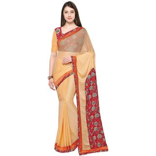 Triveni Beige  Georgette Casual Wear Printed Saree