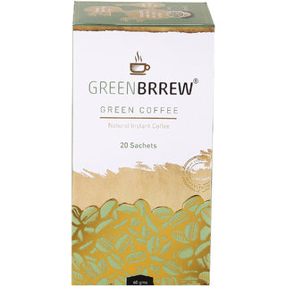 Greenbrrew Instant Green Coffee (Natural Flavour) Weight Loss - 20'sachets, 60g