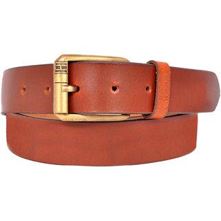 Ajeraa Brown Pure Leather Belt For Men