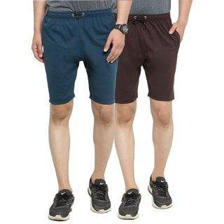 SPYFI MEN'S MULTICOLOR COTTON BLEND CASUAL SHORTS