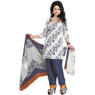 Subhash  Blue Plain Crepe Saree For Women