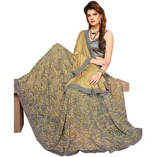 Triveni Multicolor Georgette Printed Saree With Blouse