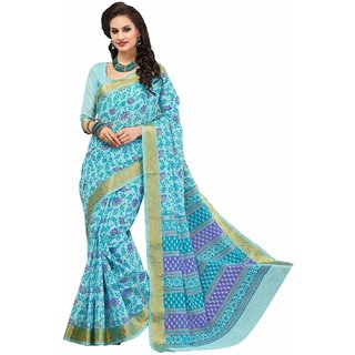 sudarshansilk Light Blue Cotton